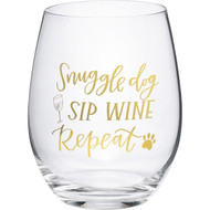 Snuggle Dog, Sip Wine, Repeat Glass