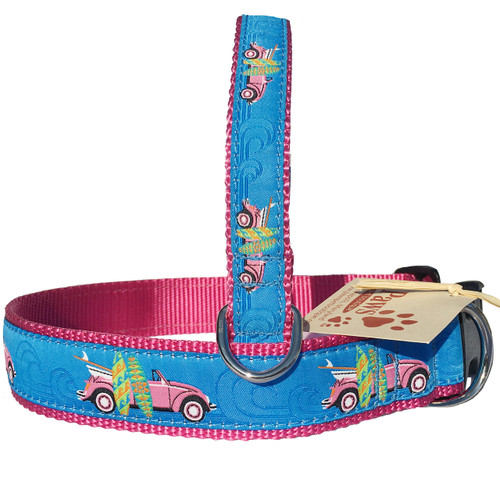 Pink Surf Buggy Dog Collar for the Beach Dog