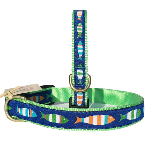 Colorful Striped Fish Dog Collars
