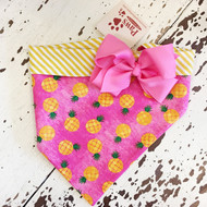 Pink Pineapple Dog Bandanna
