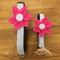 Pink Flower Dog Collars