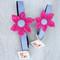 Seersucker Pink Flower Dog Collars