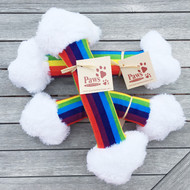 Rainbow Bendy Dog Toy