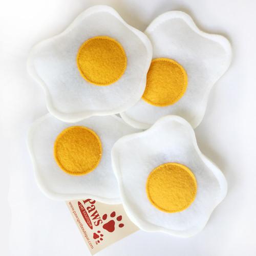 Sunny Side Up Egg Catnip Toys