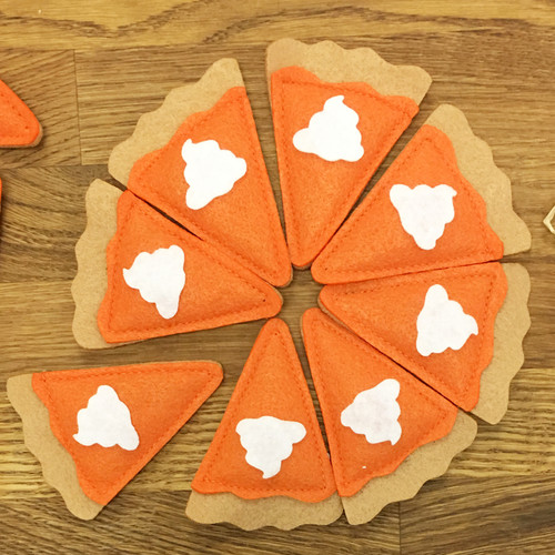 Pumpkin Pie Slice Catnip Toys