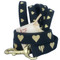 Gold Heart Black Dog Leash makes a statement.