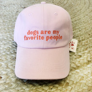 Dogs are my favorite people pink hat