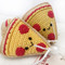 Small Pizza Squeaker Dog Toys