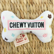 Chewy Vuiton Dog Toy with Squeaker