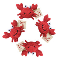 Red Crab Dog Toys