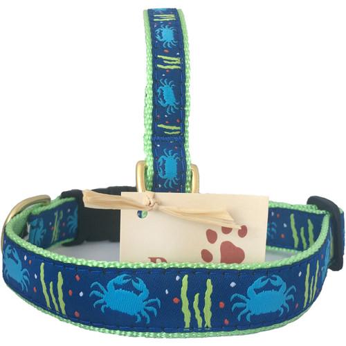 Light Blue Crab Dog Collar