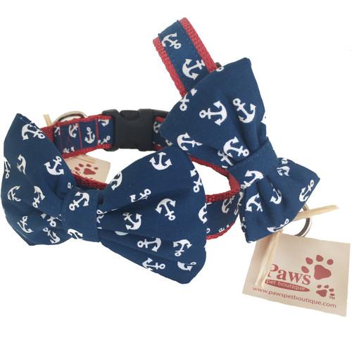 Anchor Bow Tie Dog Collars