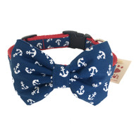 Anchor Collar with Removable Bow Tie