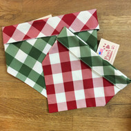 Reversible Buffalo Plaid Dog Bandannas