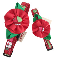 Festive Holiday Dog Collars with Flower