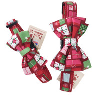 Festive Holiday Bow Tie Dog Collars