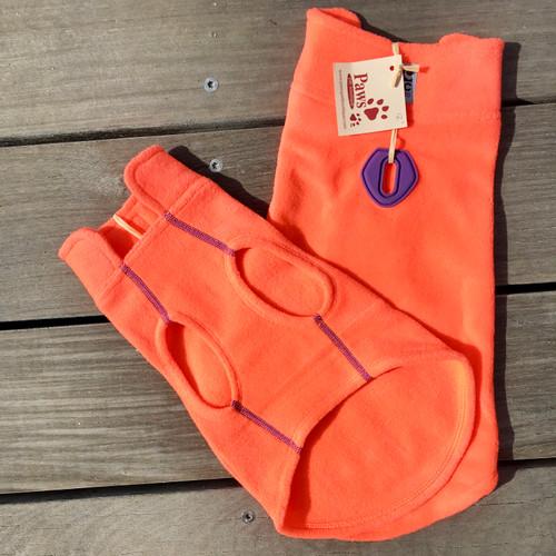 Highlighter Orange Fleece Dog Coats