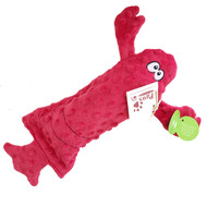 Red Lobster Dog Toy with Bottle