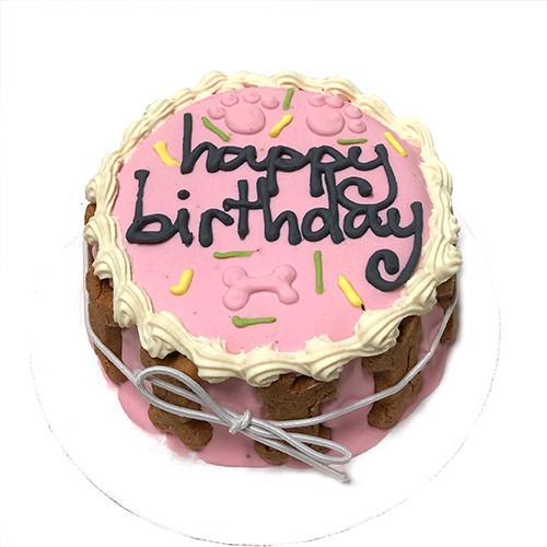 Pink Dog Birthday Cake baked in USA