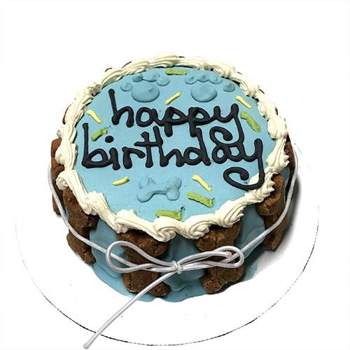 Blue Birthday Dog Cake