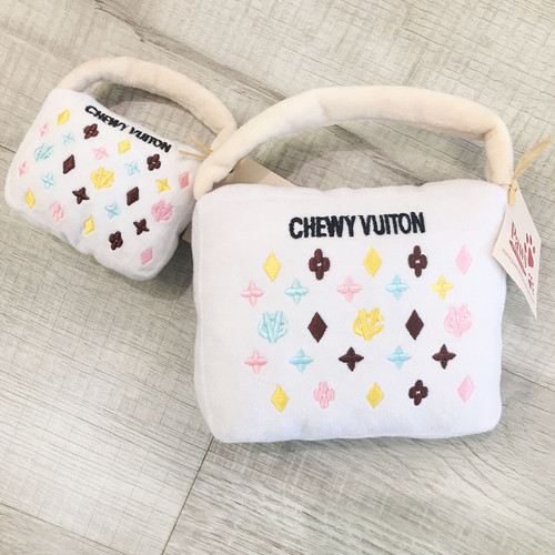 Chewy Vuiton Dog Purse Toys (2 Sizes Available)