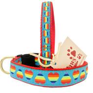 Rainbow Heart Dog Collars