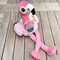 Flamingo Dog Toy Crinkles and Squeaks