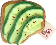 Avocado Toast Crinkle Dog Toy