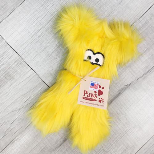 Fuzzy Yellow Tough Dog Toy