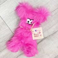 Fuzzy Pink Dog Toy made in USA