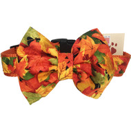 Fall Dog Collar with Detachable Bow Tie