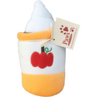 Plush Pumpkin Latte Dog Toy