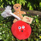 Gingerbread Wrecking Ball Holiday Dog Toy