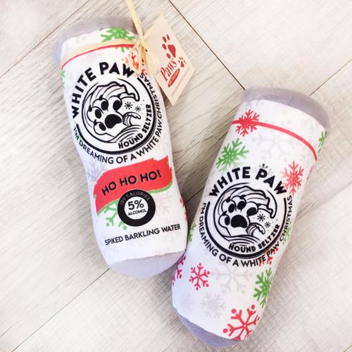 Holiday White Paw Dog Toys
