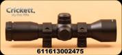 Crickett - Scope 4x32mm w/rings - Mil-Dot Reticle, Black