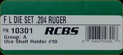 RCBS - Full Length Dies - 204 Ruger - 10301