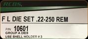 RCBS - Full Length Dies - 22-250 Rem - 10601