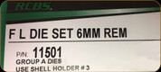 RCBS - Full Length Dies - 6mm Rem - 11501