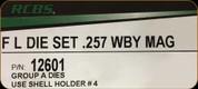 RCBS - Full Length Die Set - 257 Wby Mag - 12601