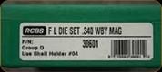 RCBS - Full Length Dies - 340 Wby Mag - 30601