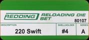 Redding - Full Length Sets - 220 Swift - 80107