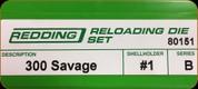 Redding - Full Length Sets - 300 Savage - 80151