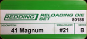 Redding - Full Length Sets - 41 Magnum - 80185