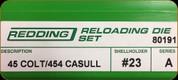 Redding - Full Length Sets - 45 Colt/454 Casull - 80191
