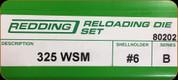 Redding - Full Length Sets - 325 WSM - 80202