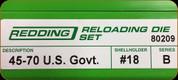 Redding - Full Length Sets - 45/70 U.S. Gov't - 80209