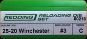 Redding - Full Length Sets - 25-20 Win - 80218