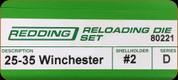 Redding - Full Length Sets - 25-35 Winchester - 80221