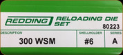 Redding - Full Length Sets - 300 WSM - 80223