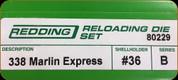 Redding - Full Length Sets - 338 Marlin Express - 80229